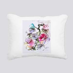 Origami Morning Glories Rectangular Canvas Pillow