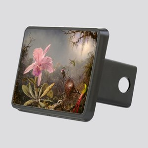 Cattleya Orchis and Three Hummingbirds Hitch Cover