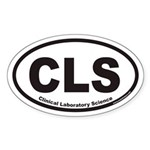 Clinical Laboratory Science CLS Euro Oval Sticker