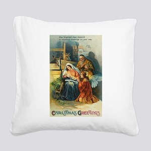 Nativity Scene Square Canvas Pillow