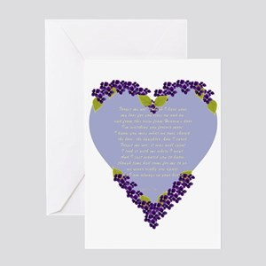 Forget Me Not Memorial Greeting Card