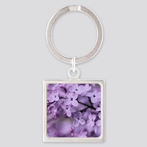 Lilac Square Keychain