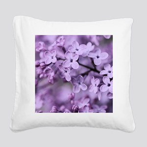 Lilac Square Canvas Pillow