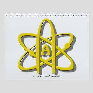 Golden A-Theist Symbol Wall Calendar