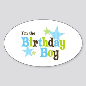 Birthday Boy Oval Sticker