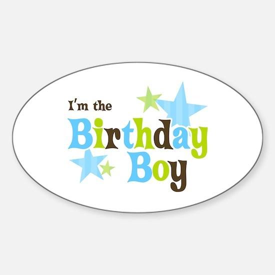 Birthday Boy Oval Decal