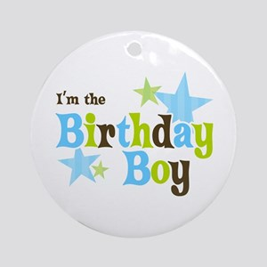 Birthday Boy Ornament (Round)