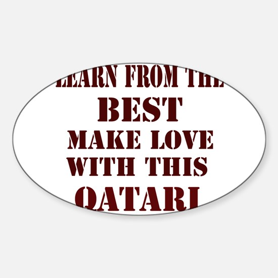 learn best from this Qatari Oval Decal