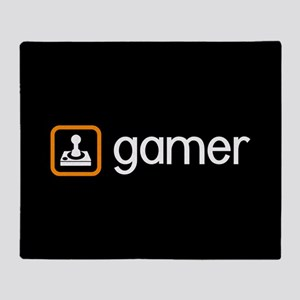 Gamer (Orange) Throw Blanket