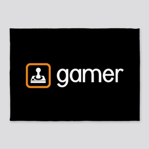 Gamer (Orange) 5'x7'Area Rug