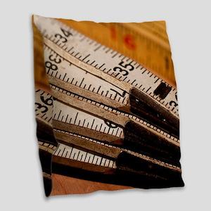 Carpenters Rulers Burlap Throw Pillow