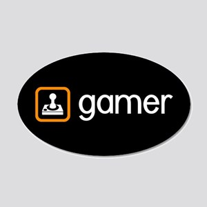 Gamer (Orange) 20x12 Oval Wall Decal