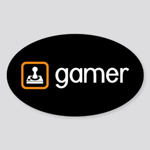 Gamer (Orange) Sticker (Oval)