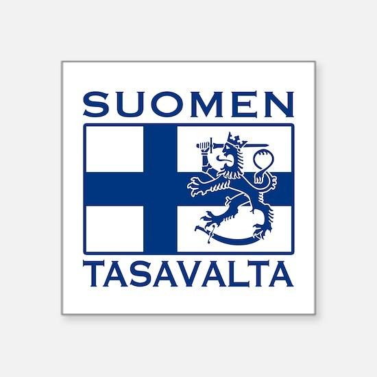 """Unique Suomi Square Sticker 3"""" x 3"""""""