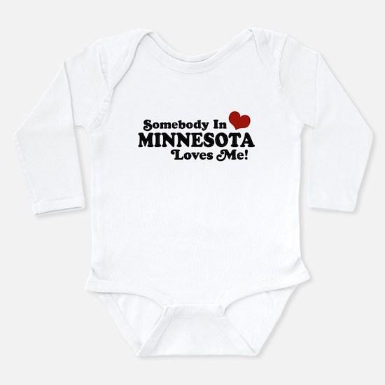 Unique Somebody california loves me Long Sleeve Infant Bodysuit