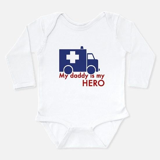 Unique Dad is my hero Long Sleeve Infant Bodysuit