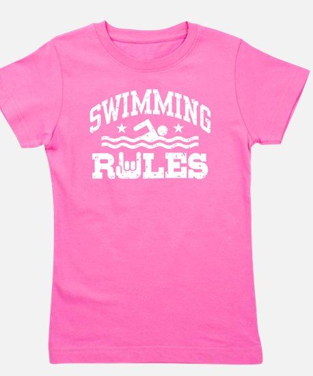 Cute I%27d rather swimming Girl's Tee