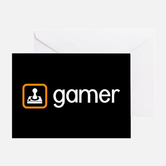 Gamer (Orange) Greeting Card