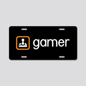 Gamer (Orange) Aluminum License Plate