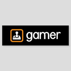 Gamer (Orange) Sticker (Bumper)