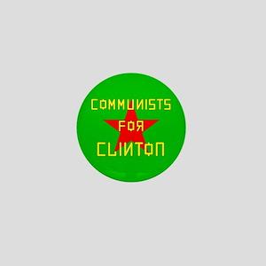 Communists For Clinton Mini Button