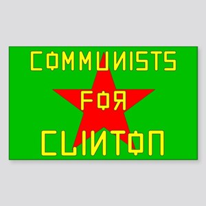 Communists For Clinton Rectangle Sticker