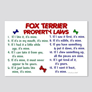 Fox Terrier Property Laws 2 Postcards (Package of