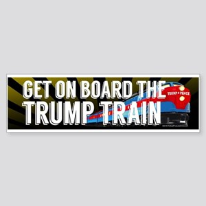 Board the Trump Train Bumper Sticker