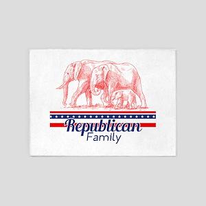Republican Family 5'x7'Area Rug
