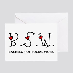 BSW Hearts (Design 2) Greeting Card