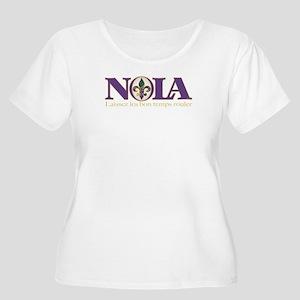 NOLA Mardi Gras Women's Plus Size Scoop Neck T-Shi