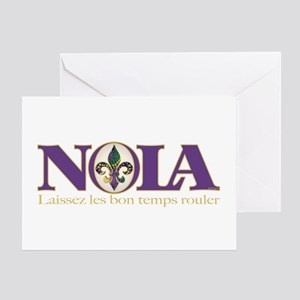 NOLA Mardi Gras Greeting Card