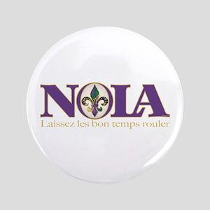 """NOLA Mardi Gras 3.5"""" Button"""