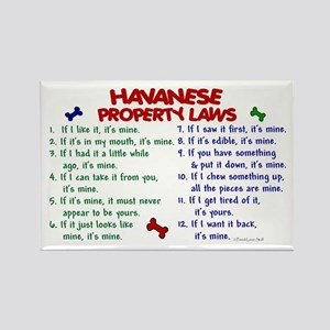 Havanese Property Laws 2 Rectangle Magnet