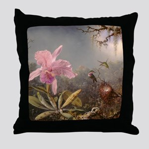 Cattleya Orchid And Three Throw Pillow