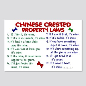 Chinese Crested Property Laws 2 Postcards (Package