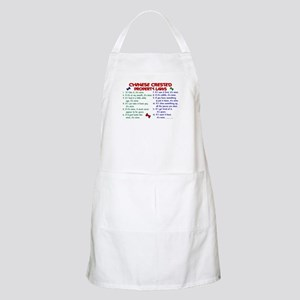 Chinese Crested Property Laws 2 BBQ Apron