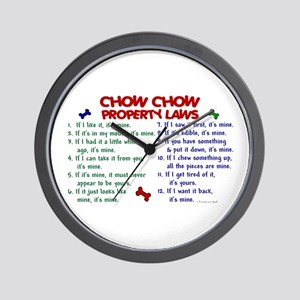 Chow Chow Property Laws 2 Wall Clock