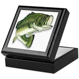 Bass fishing Keepsake Boxes