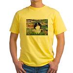 Lilies (#2)/Japanese Chin Yellow T-Shirt