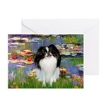 Lilies (#2)/Japanese Chin Greeting Cards (Pk of 20