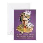 Birthday: Crystal Ball, Age-55 Greeting Cards