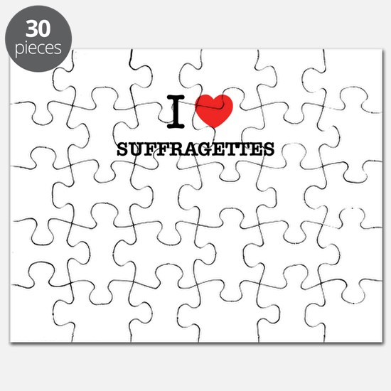 I Love SUFFRAGETTES Puzzle