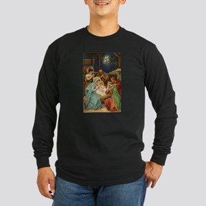 Nativity Scene with Three Kings Long Sleeve T-Shir