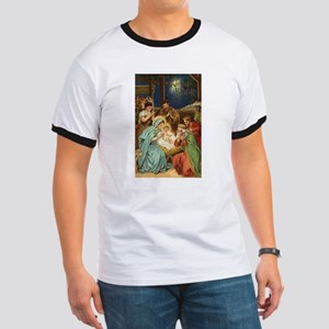 Nativity Scene with Three Kings T-Shirt