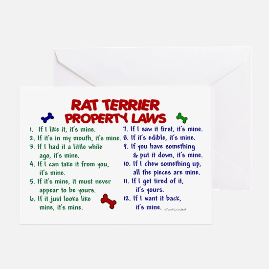 Rat Terrier Property Laws 2 Greeting Card