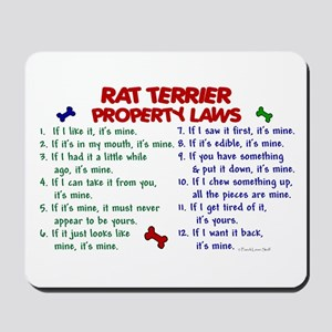 Rat Terrier Property Laws 2 Mousepad