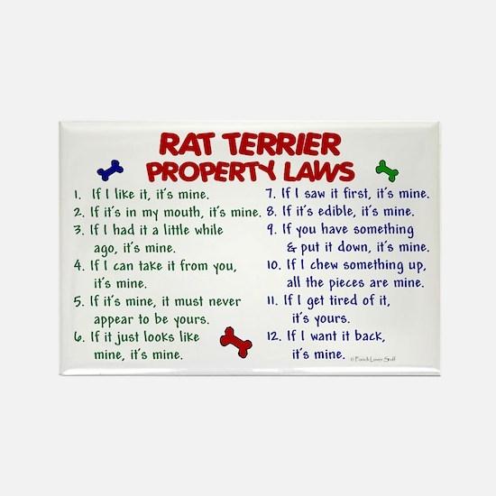 Rat Terrier Property Laws 2 Rectangle Magnet