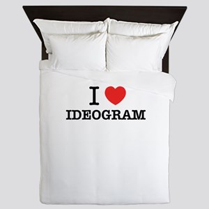 I Love IDEOGRAM Queen Duvet
