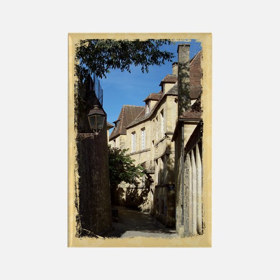 French Village Scene, Sarlat Rectangle Magnet